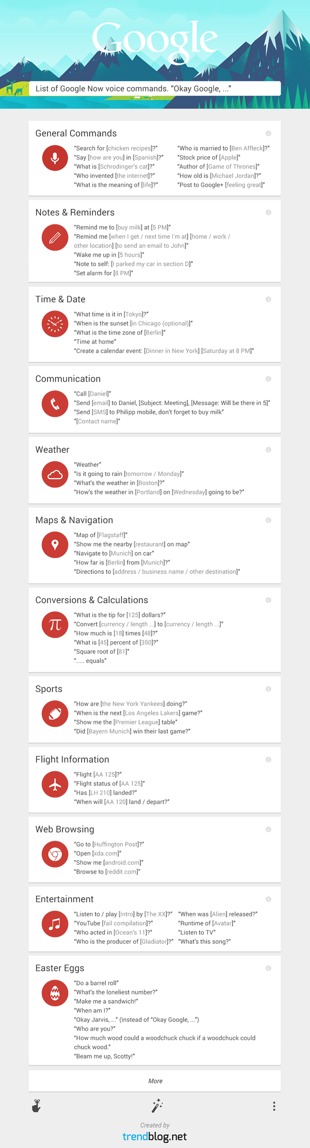 googlenow-commands