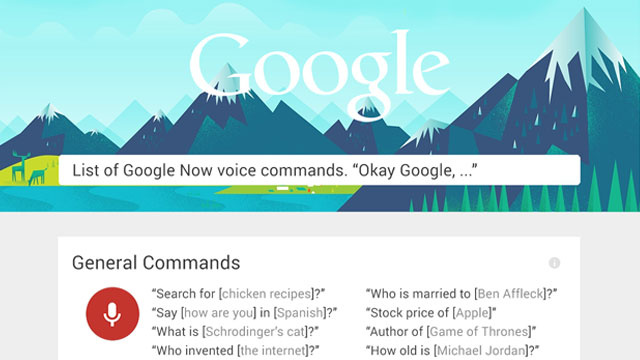 بیش از شصت دستور Google Now را یاد بگیرید!