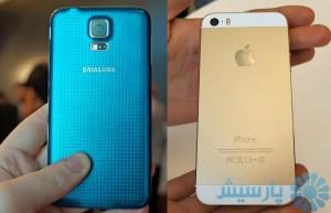 مقایسه آیفون 5s و گلکسی S5