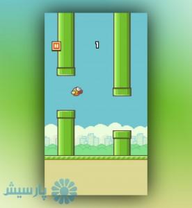 نمایی از اپلیکشن flappy bird