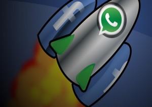 رشد واتساپ به کمک فیسبوک