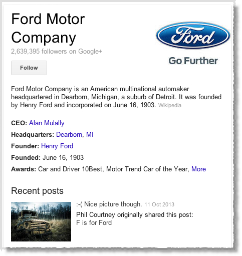 Ford-Motor-Comapny-on-Google+