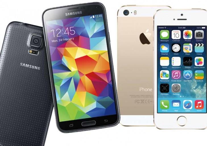 شش دلیل برای بهتر بودن گلکسی S5 بر آیفون ۵S