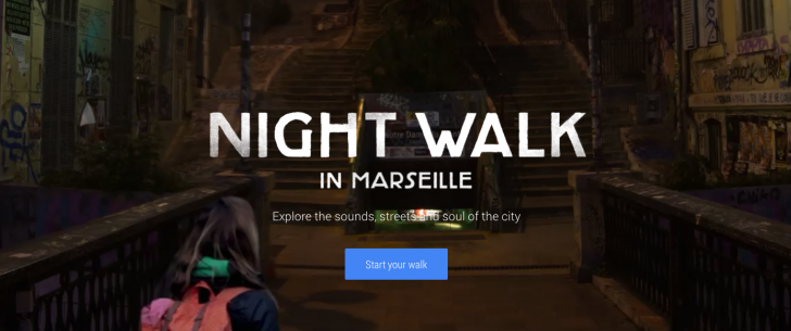 پیادهروی شبانه با کمک گوگل نایت واک
