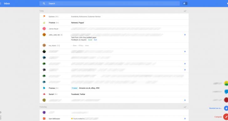 گوگل و احتمال اقدام به ارائه ظاهر جدید برای جیمیل