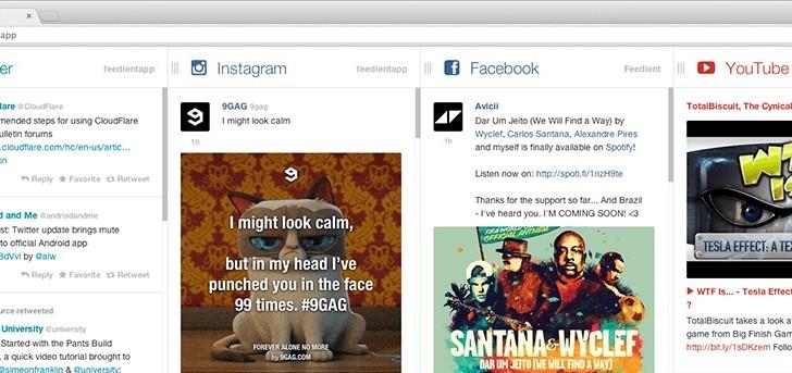 مشاهده و تعامل با شبکههای اجتماعی در یک مکان با سایت فیدینت