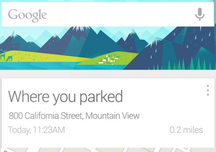گوگل و کمک در یادآوری خودروی پارک شده