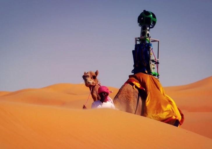 همکاری گوگل با شترها برای Street View