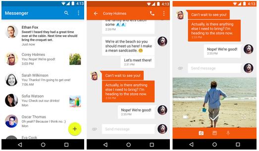 اپ جدید Messenger از گوگل