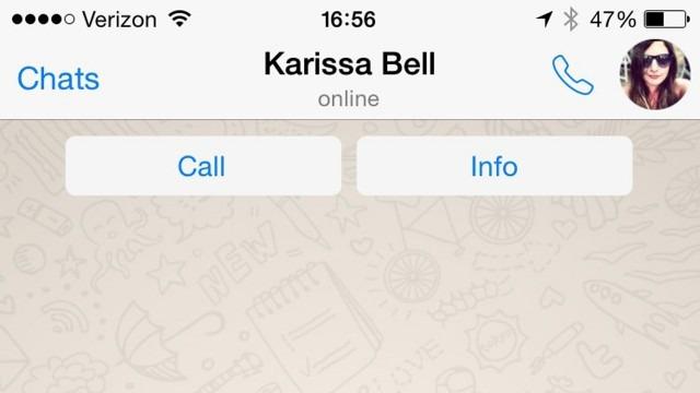 سرویس آزمایشی تماس صوتی در واتس اپ