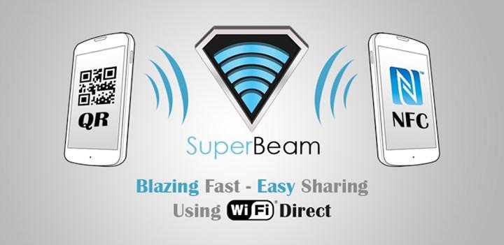 با سوپر بیم به سرعت برق و باد فایل ها را انتقال دهید