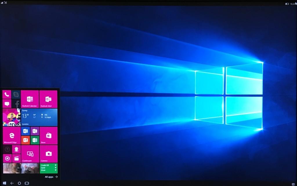صفحه نمایش شبیه سازی شده توسط Continuum
