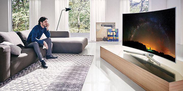 بررسی تلویزیون مدل UE55JS9000 سامسونگ