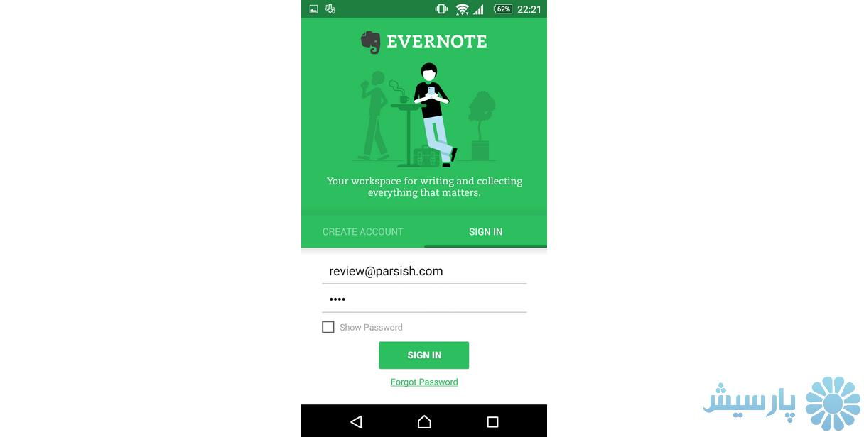 Setup Evernote